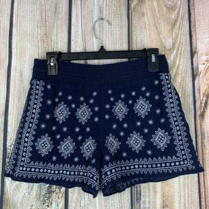 J Crew Embroidered Mosaic Pull On Shorts Xsmall